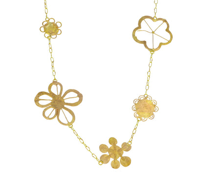 Tea Length Flowery Necklace