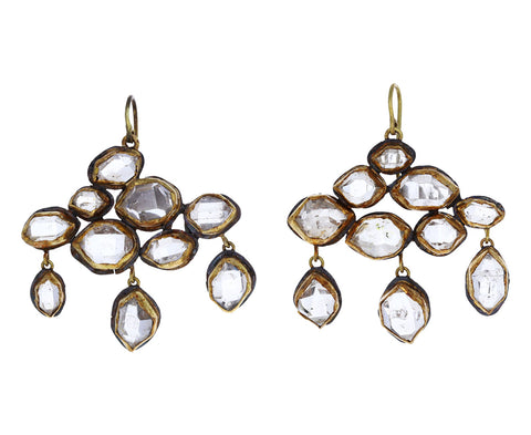 Herkimer Diamond Chandelier Earrings