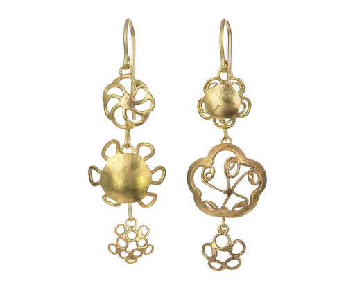 Triple Flowery Earrings - TWISTonline
