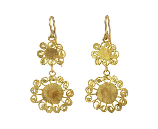 Double Flower Drop Earrings - TWISTonline