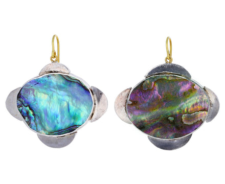 Judy Geib Abalone Medieval Folklorish Earrings