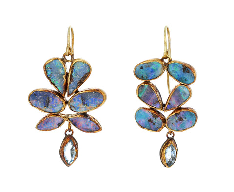 Opal and Aquamarine Dangle Earrings - TWISTonline