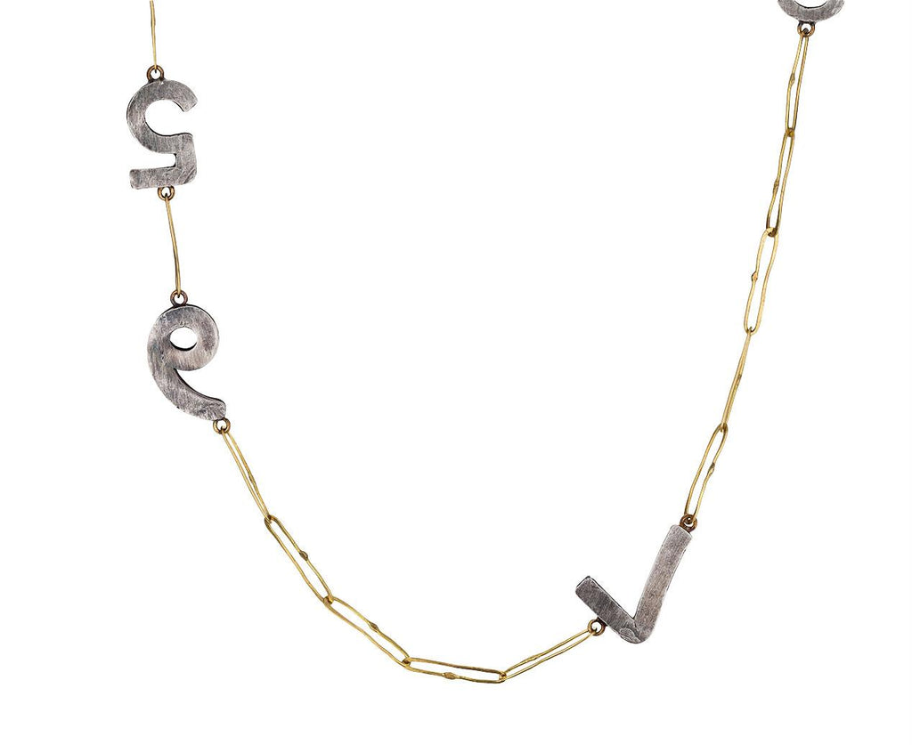 Silver and Gold Number Necklace - TWISTonline