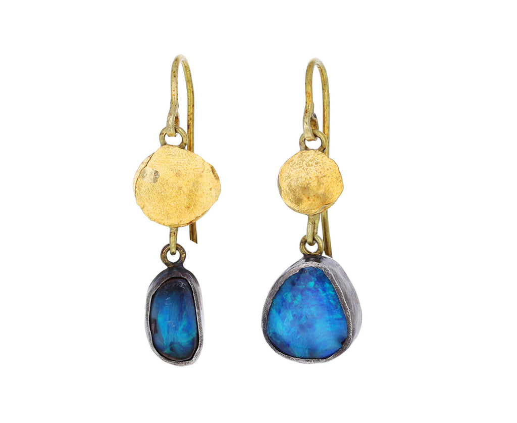 Small Loosey Goosey Opal Gold Squash Earrings