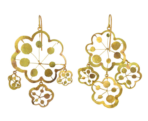 Flower OOCL Chandelier Earrings
