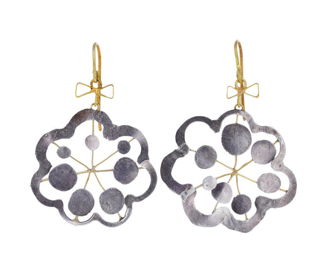 Silver Flower Squash OOCL Earrings
