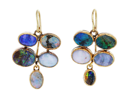 Quadruple Dangly Opal Earrings - TWISTonline