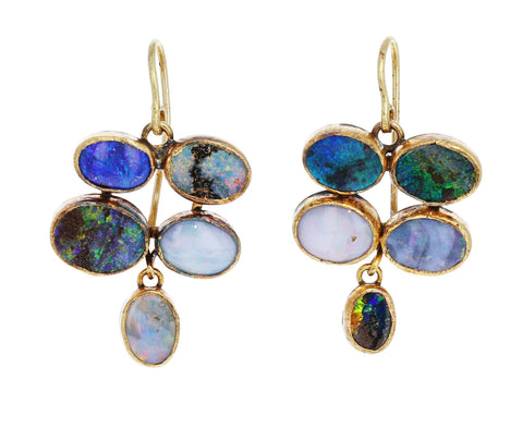 Quadruple Dangly Opal Earrings