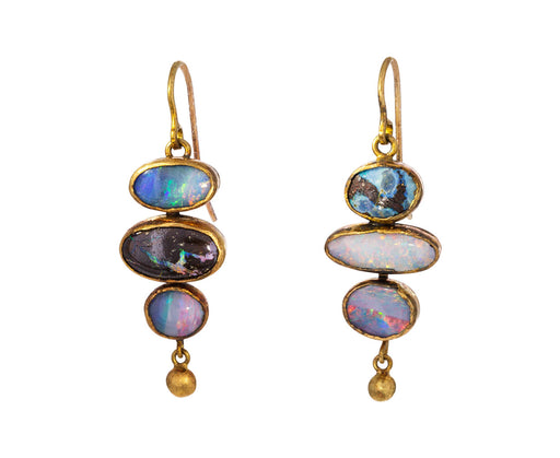 Triple Dangly Opal Earrings - TWISTonline