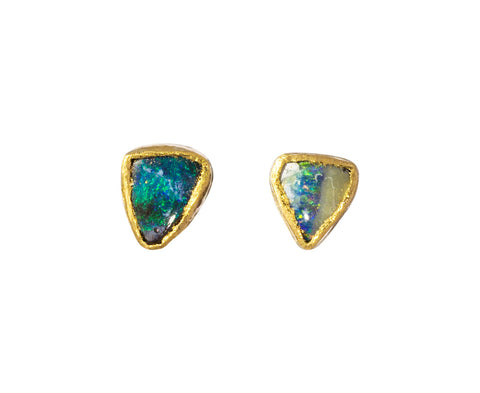 Tiny Opal Stud Earrings