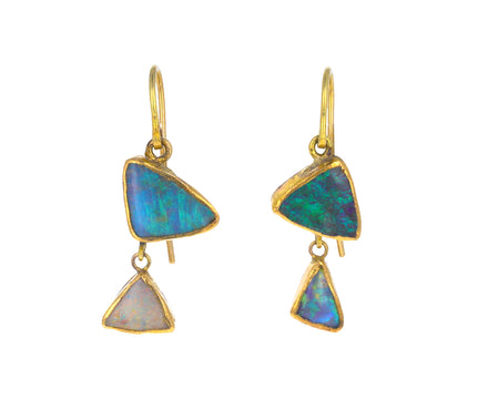 Double Triangular Opal Drops