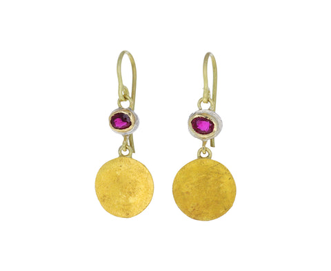 Ruby Squash Earrings