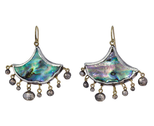 Abalone and Silver Fan Earrings - TWISTonline
