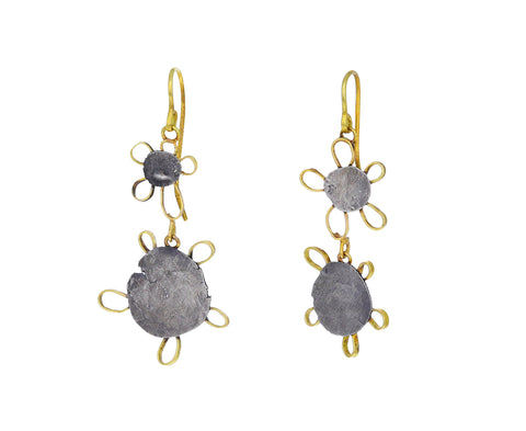 Silly Double Drop Flower Earrings