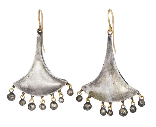 Silver Fan Ball Fringe Earrings - TWISTonline