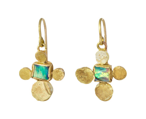 Abalone and Squash Earrings