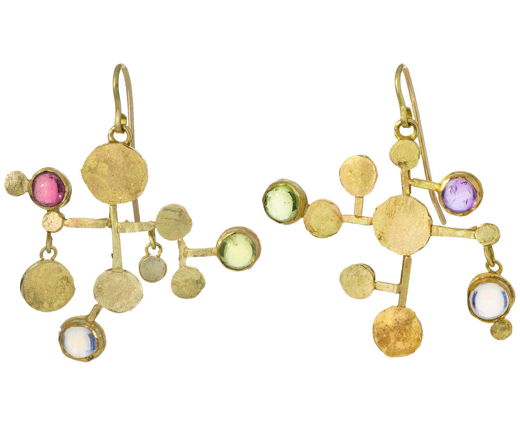 Miro Multi Gem Squash Earrings - TWISTonline