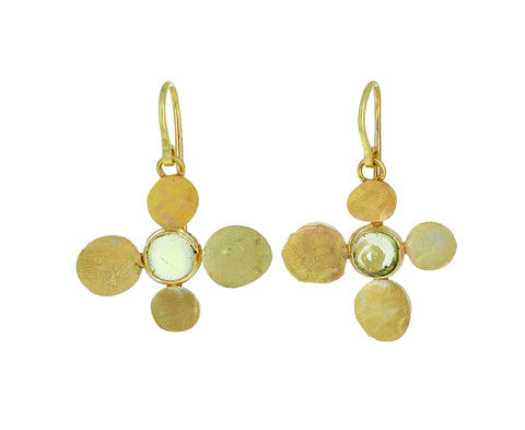 Gold and Peridot Squash Earrings - TWISTonline