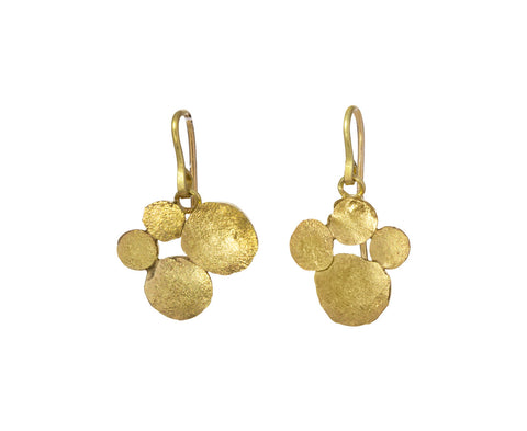 Adorable Small Four Squash Cluster Earrings