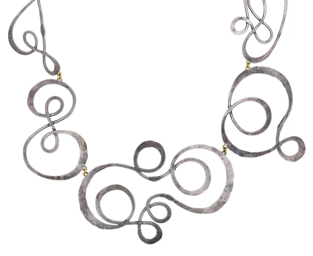 Sterling Silver Swooshy Necklace - TWISTonline