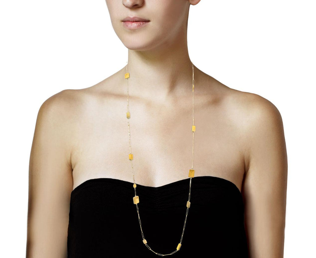 Long Gold Mies Dream Necklace - TWISTonline