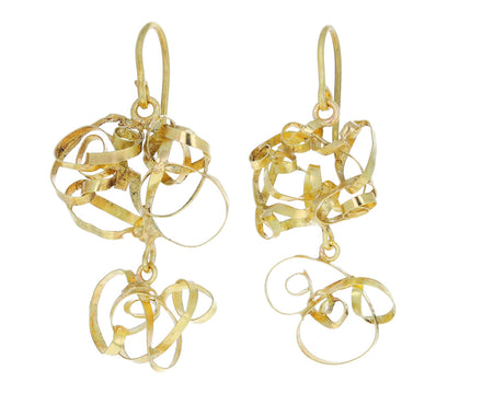 Judy Geib Gold Silly Tangled Earrings