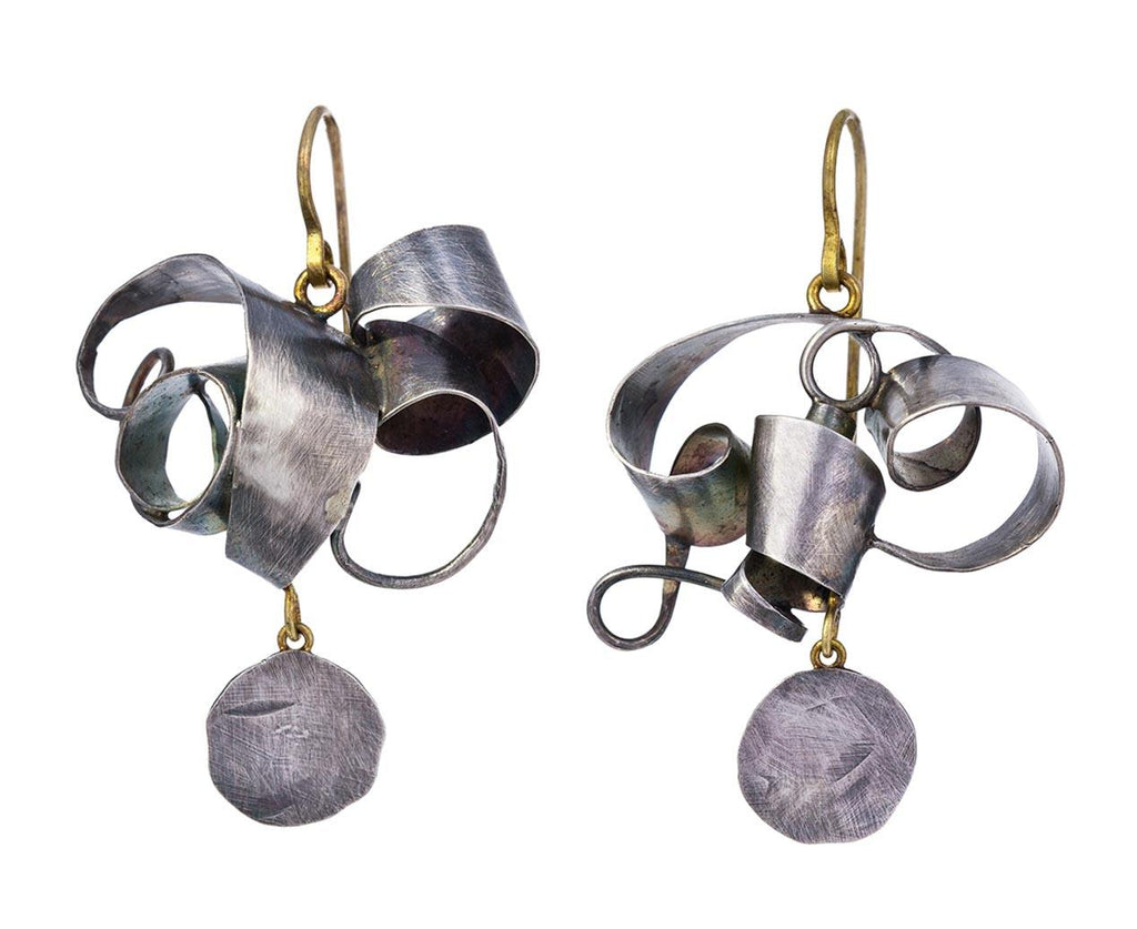 Silver Tangled Earrings with Squash Drops - TWISTonline