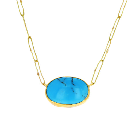Oval Turquoise Echo Necklace