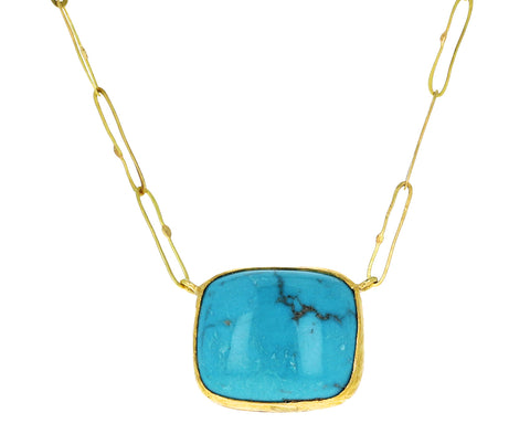 Rectangular Turquoise Echo Necklace