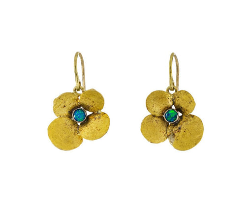 Gold and Opal Hydrangea Earrings - TWISTonline
