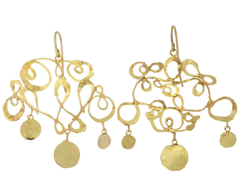 Playful Calligraphic and Squash Earrings
