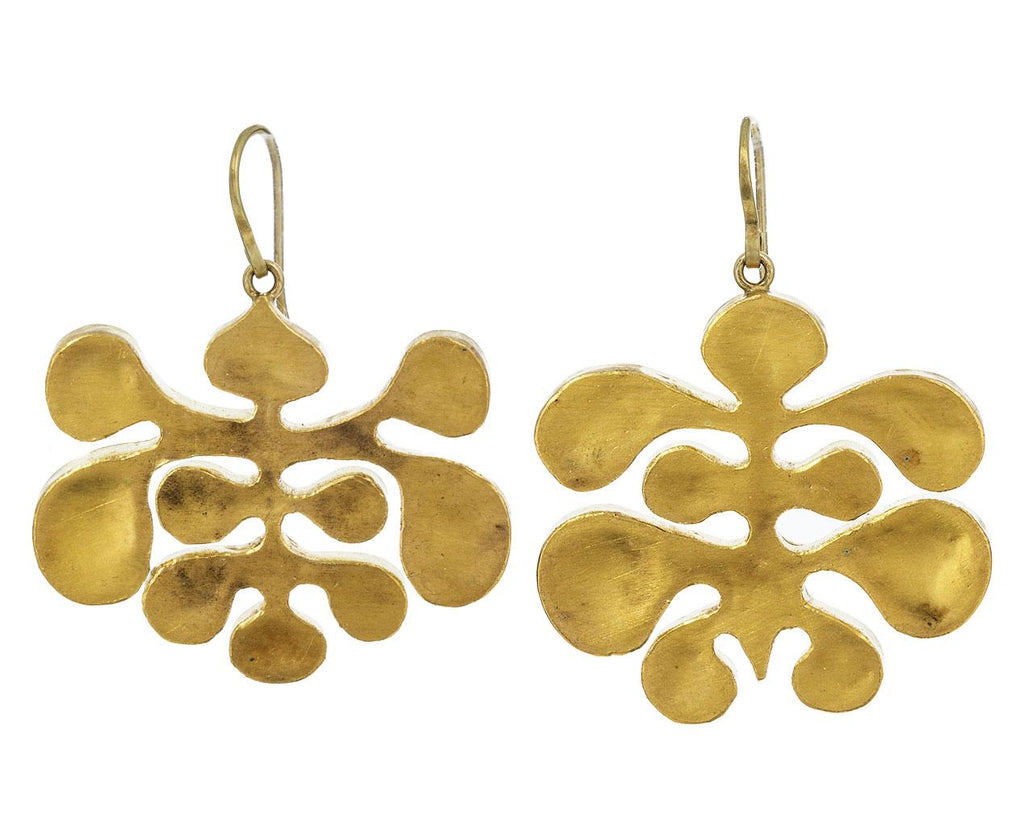 Large Gold Amorphous Earrings - TWISTonline