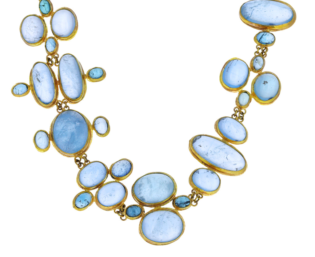 Lovely Aquamarine Patterned Necklace