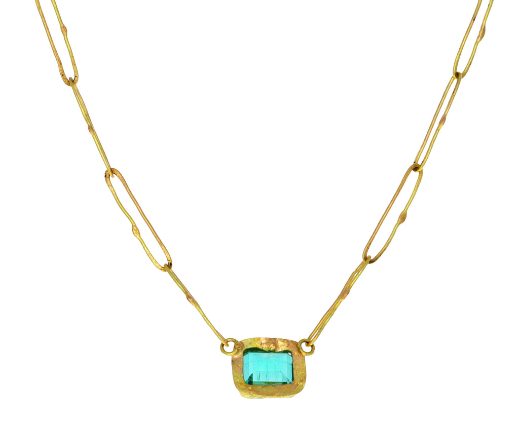 Lovely Colombian Emerald Small Echo Necklace