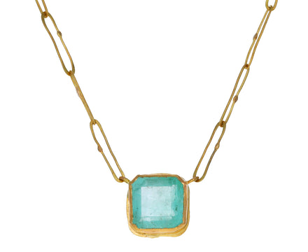 Light Colombian Emerald Echo Necklace