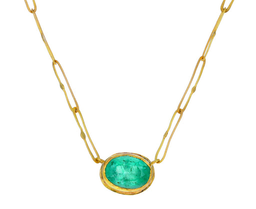 Lovely Bright Emerald Echo Necklace