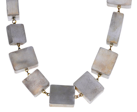 Silver Cubic Necklace