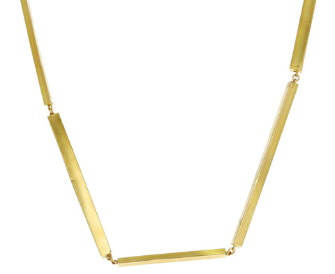 Gold Bar Cubic Necklace
