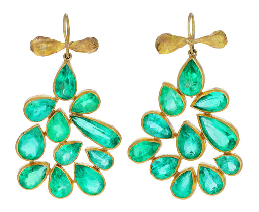 Gorgeous Emerald Chandelier Earrings