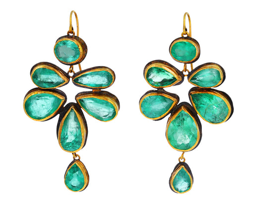 Large Emerald Malta Earrings