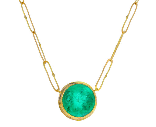 Lovely Round Emerald Echo Necklace