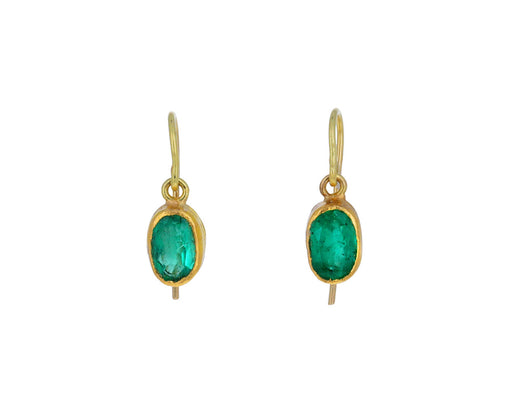 Lovely Oval Emerald Earrings