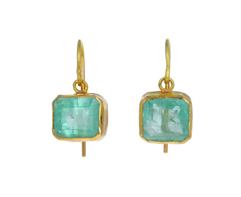 Beautiful Emerald Single Drop Earrings