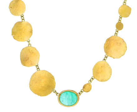 Gorgeous Squash Emerald Chain Necklace