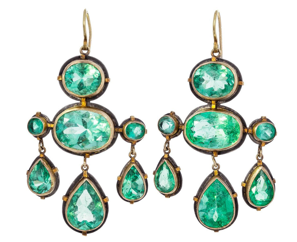 Giant Emerald Chandelier Earrings - TWISTonline