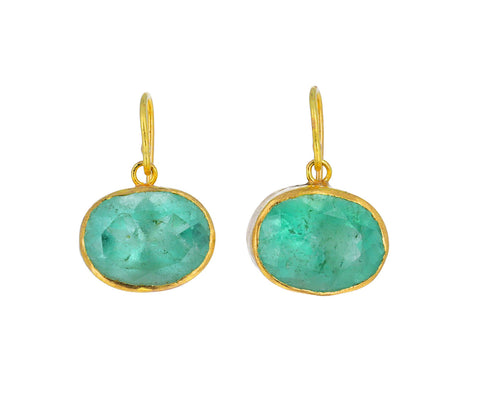 Gorgeous Oval Emerald Earrings