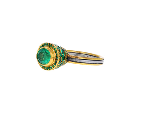 Emerald Pavé Ring