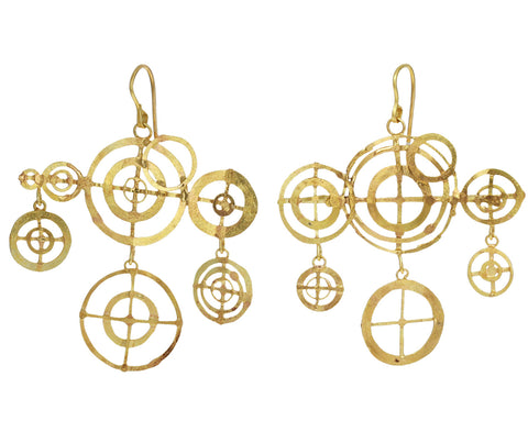 Gold Frank Lloyd Wright Earrings - TWISTonline