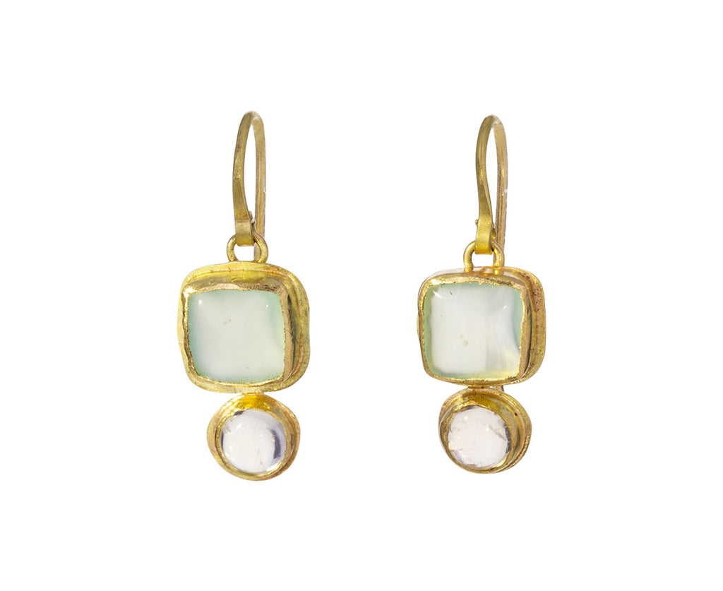 Chalcedony and Moonstone Earrings - TWISTonline