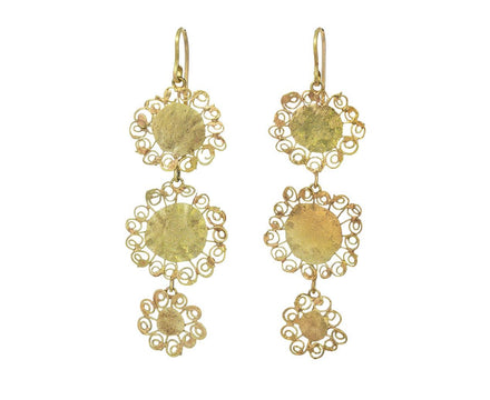 Triple Teeny Flowery Drop Earrings - TWISTonline